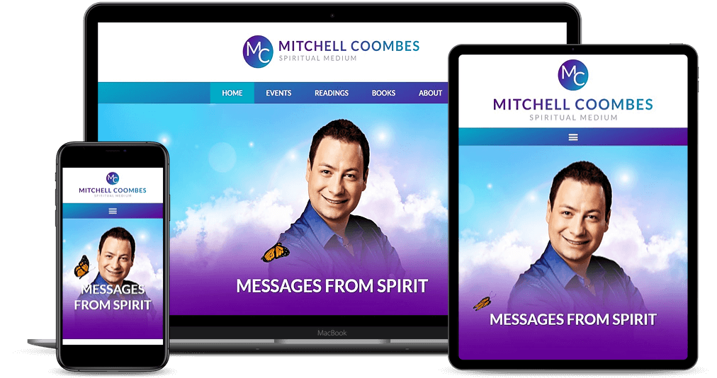 Mitchell Coombes website shown on Multiple Devices